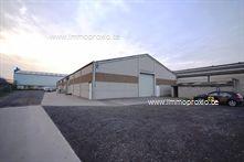 AFWERKING  : betonnen constructie, gepolierde betonvloer, geïsoleerd zadeldak met lichtstraten (voldoende daglicht!) en TL...