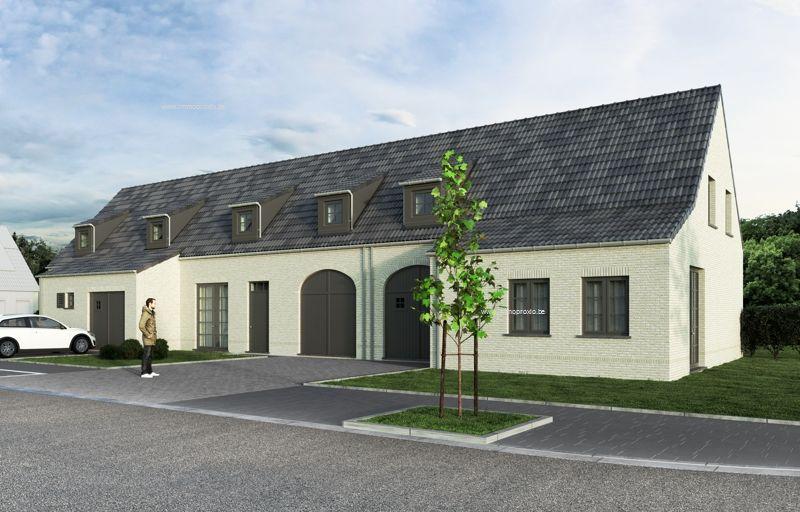 Nieuwbouw huis te koop hondekensmolenstraat izegem ref for Huizen te koop izegem